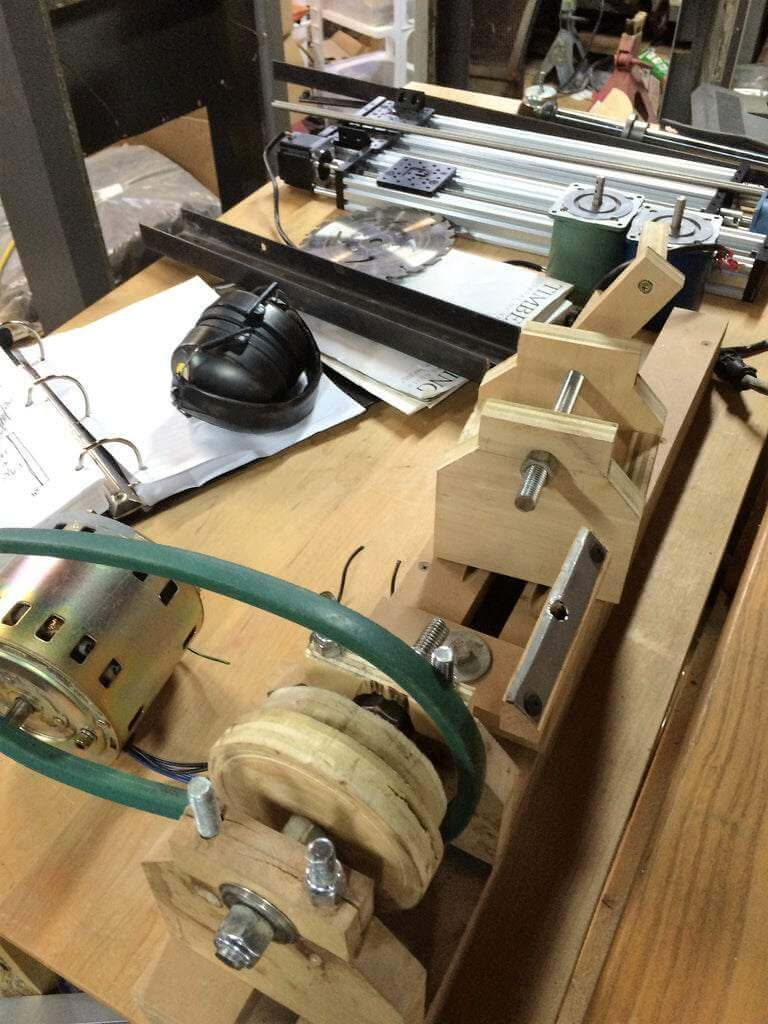 12. DIY Mini Wood Lathe