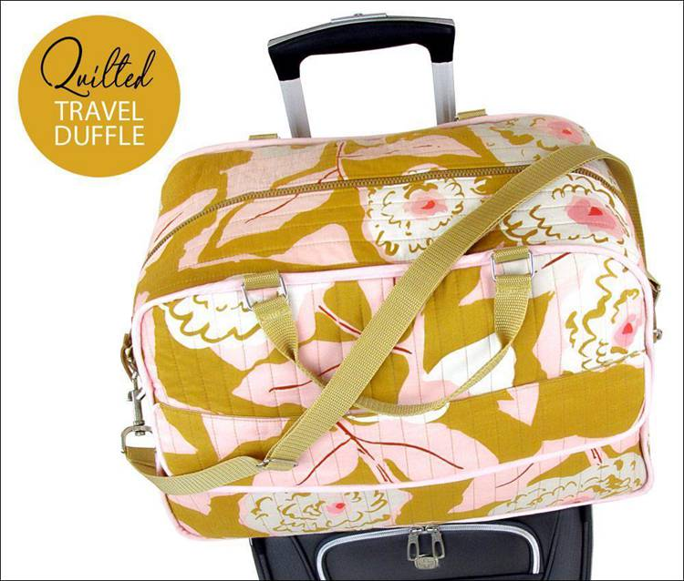 12. DIY Quilted Travel Duffle