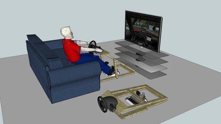 12. DIY Racing Wheel Stand