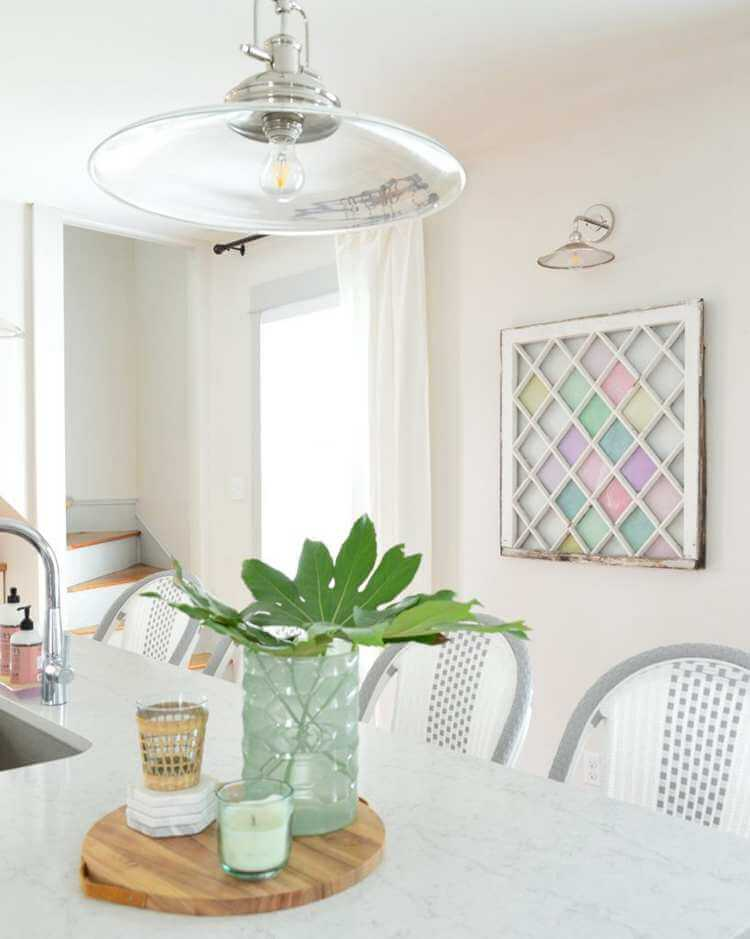 12. DIY Stained Glass Window That Hangs On The Wall