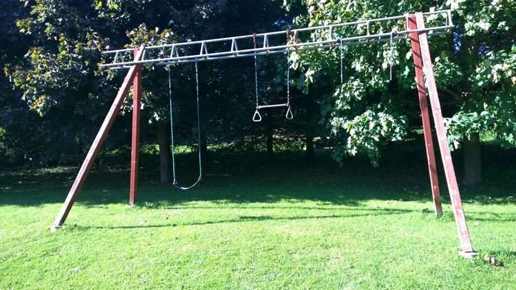12. DIY Swing Set A-Frame