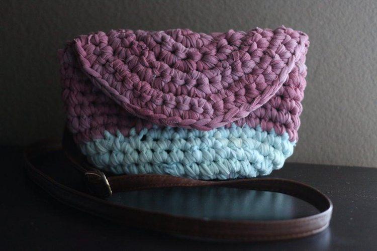 13. DIY Crocheted Crossbody Bag