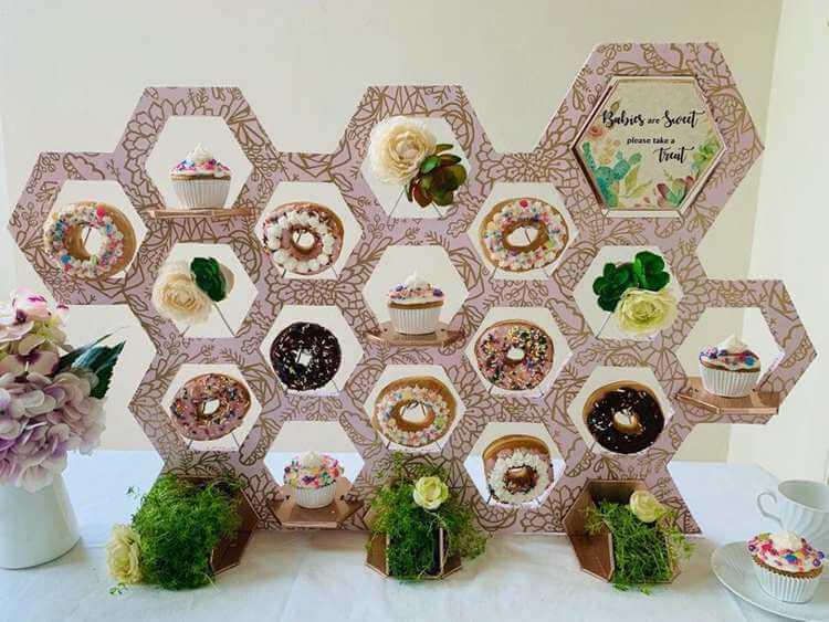 13. DIY Donut Cupcake Stand