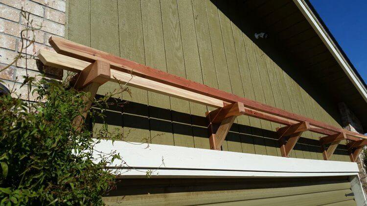 13. DIY Garage Pergola
