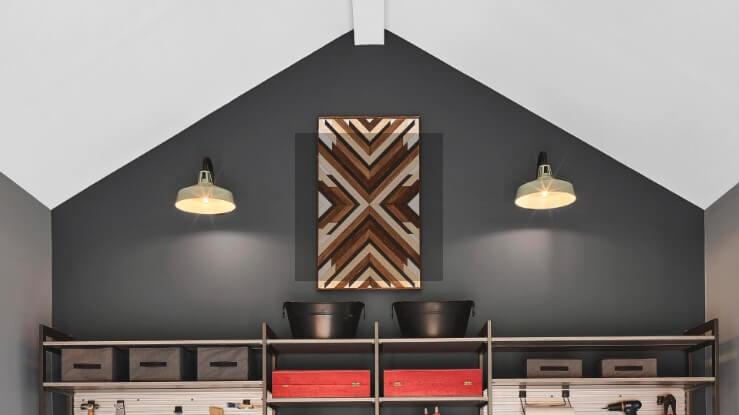 13. DIY Geometric Wood Wall Art