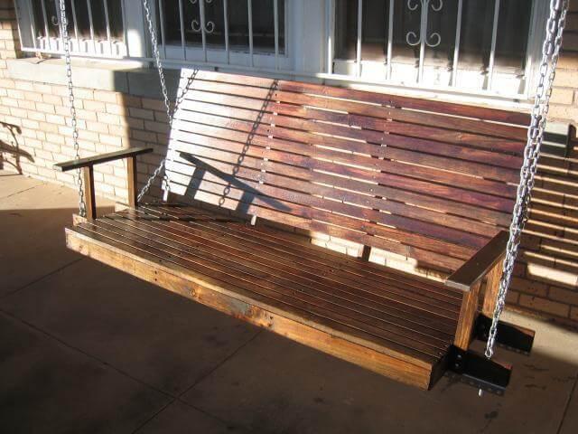 13. DIY Heavy Duty Porch Swing