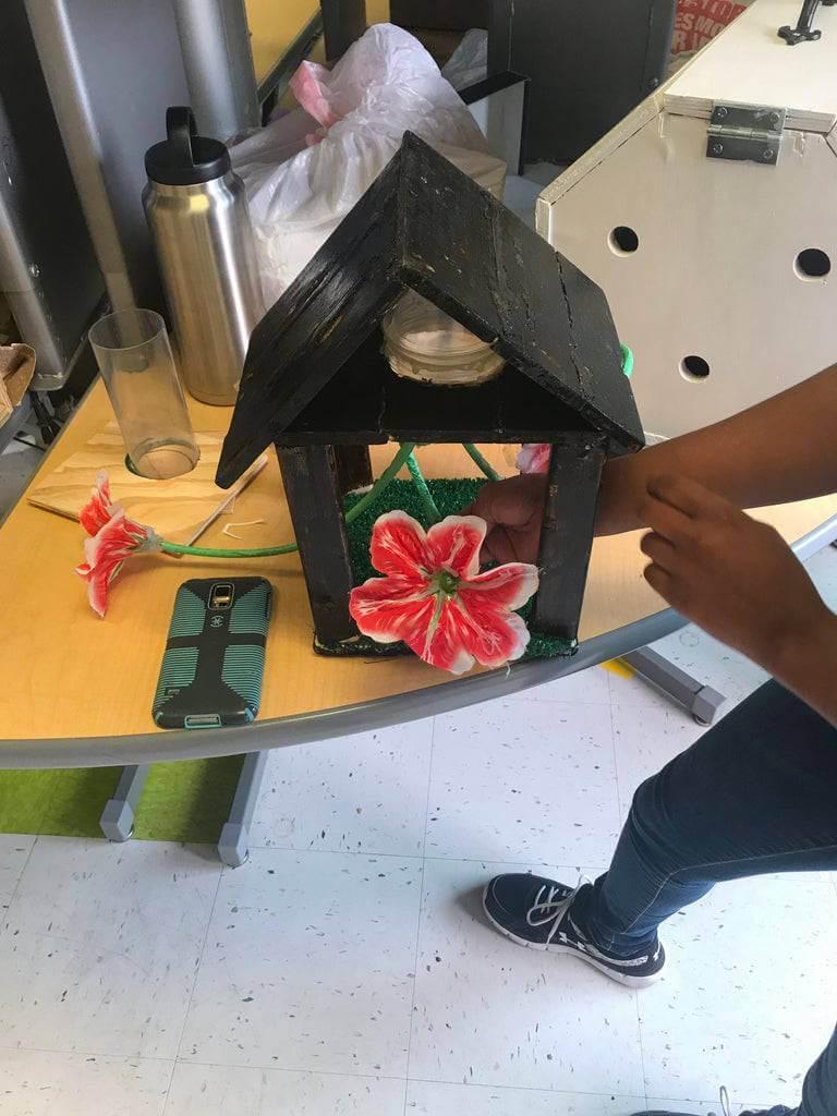 13. DIY Hummingbird Feeder