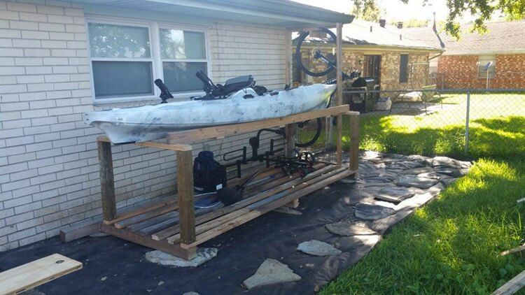 13. DIY Kayak And Bike Rack