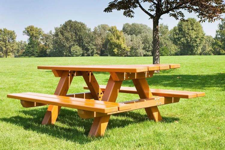 13. DIY Picnic Table With Benches