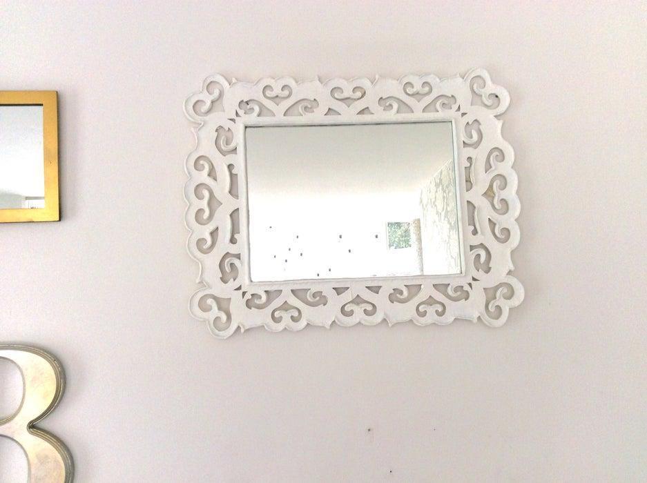 13. DIY Textured Mirror Frame