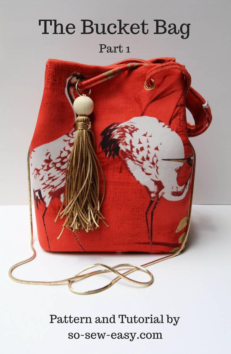 14. DIY Bucket Pattern Crossbody Bag