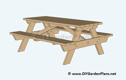14. DIY Building Plans For A Picnic Table