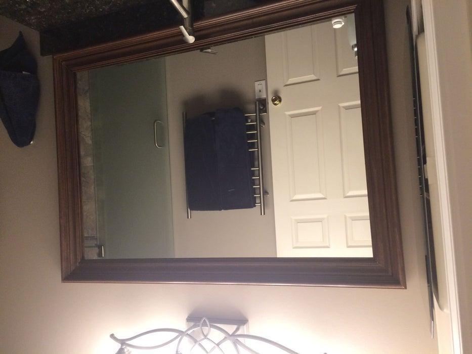 14. DIY Floating Mirror Frame