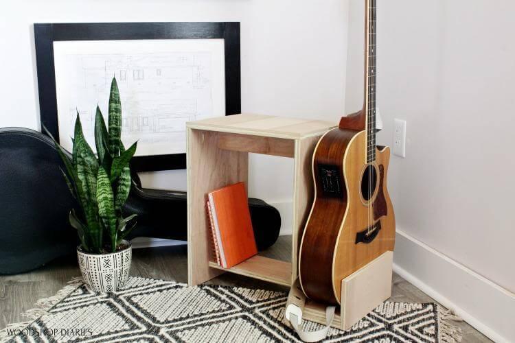 14. DIY Guitar Stand Stool