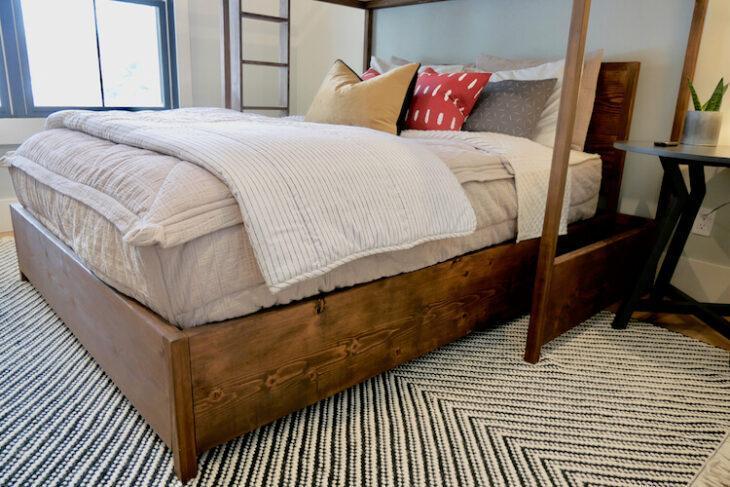 14. DIY Queen Platform Bed