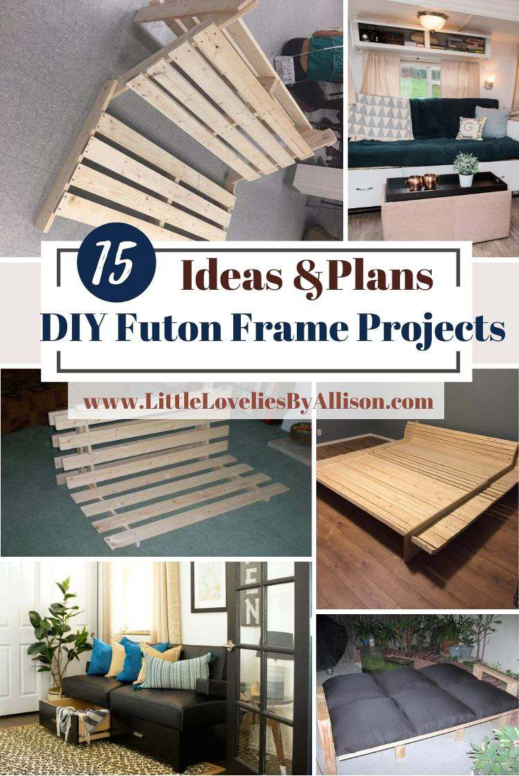 15 DIY Futon Frame Projects_ Solid Wood Bed Frames