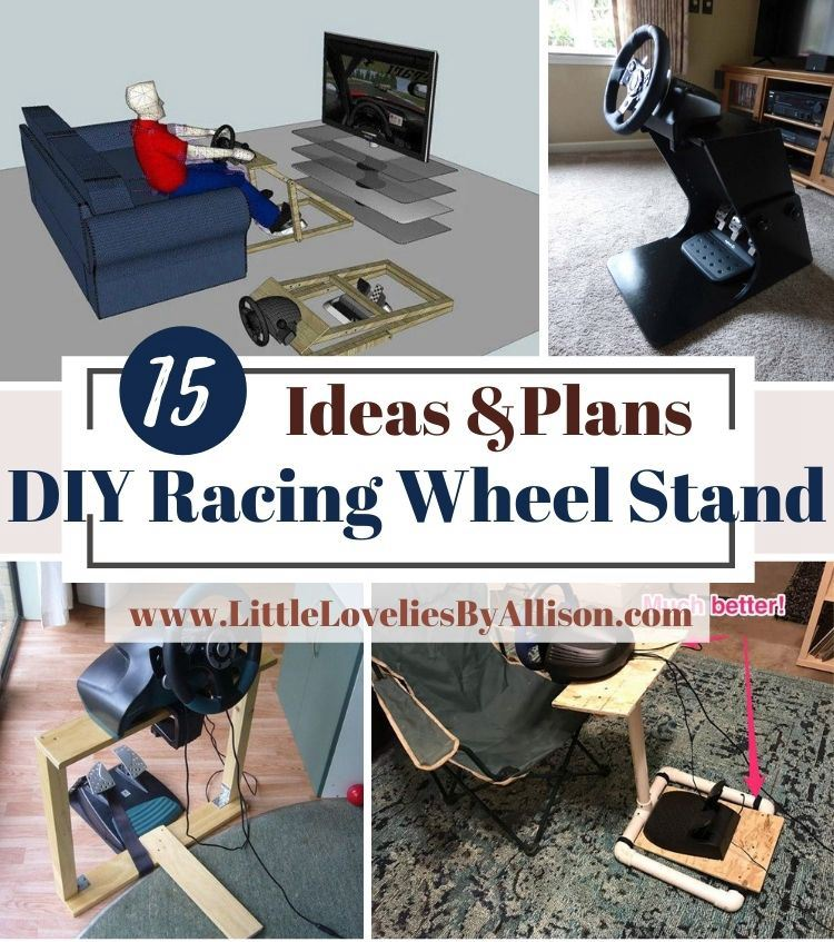 15 DIY Racing Wheel Stand Projects That You Can Build With Ease