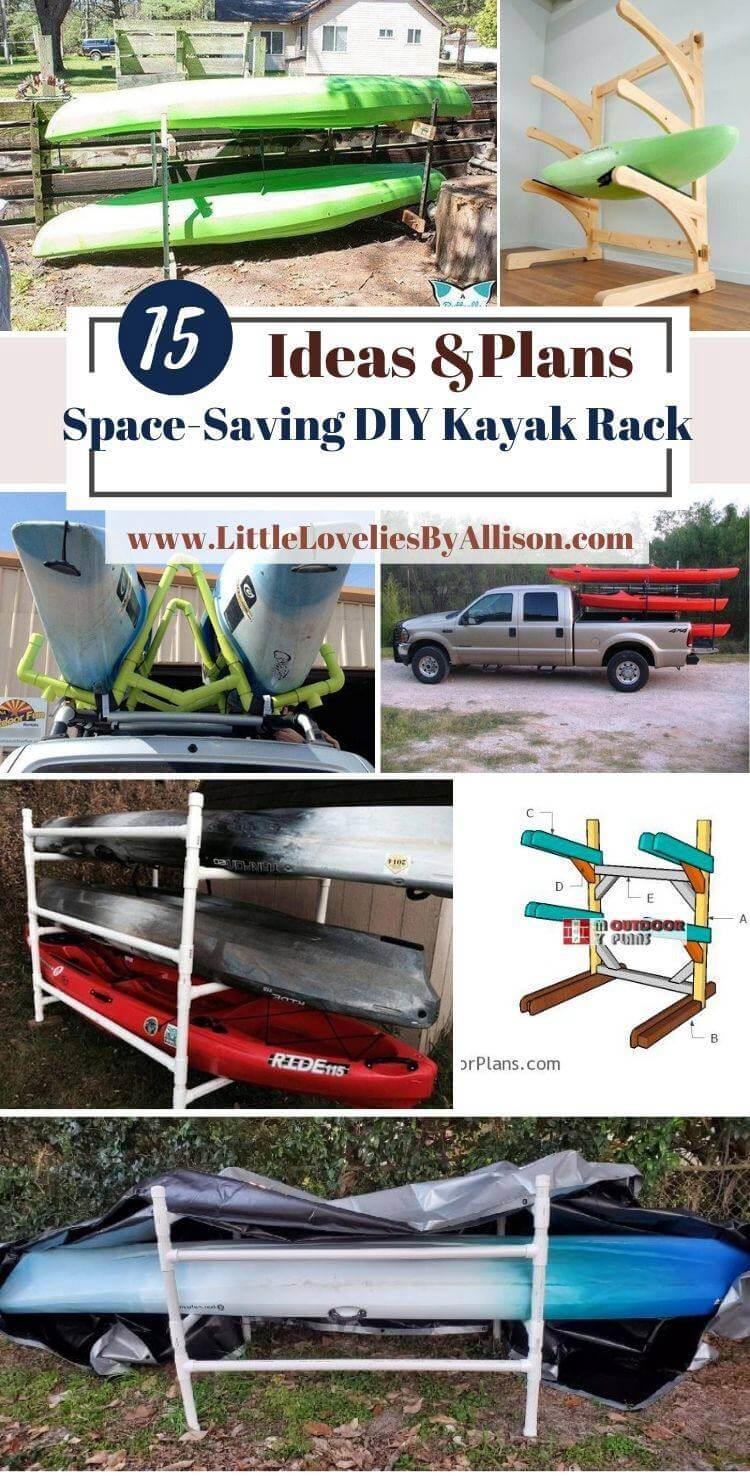 15 Space-Saving DIY Kayak Rack Plans That You Can Build Easily