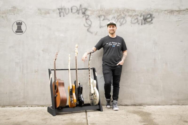15. DIY Easy Guitar Stand