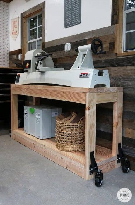 15. DIY Rolling Workbench