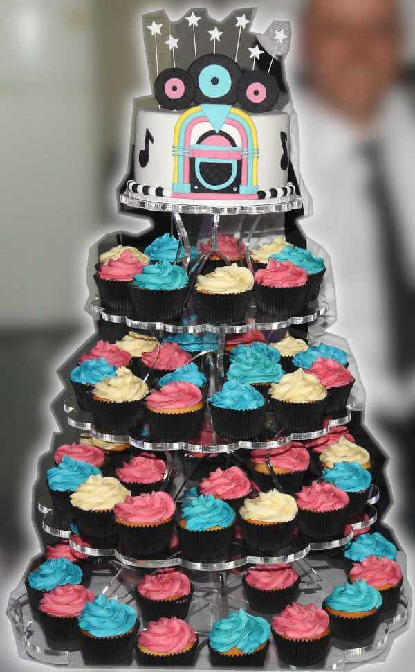 15. DIY Tiered Cupcake Stand