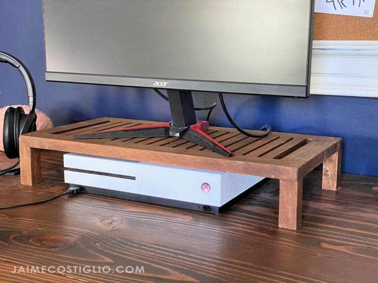15. DIY Vented Monitor Stand