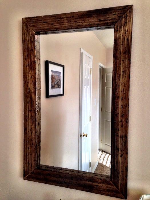 15. DIY Wood Mirror Frame