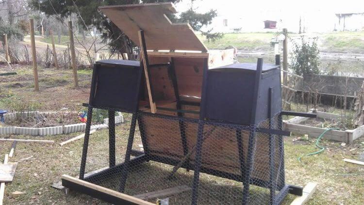 16. DIY Backyard Chicken Tractor