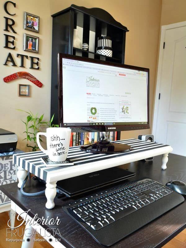16. DIY Computer Monitor Stand