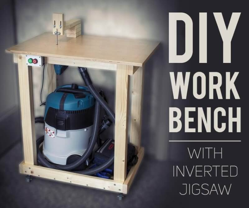 16. DIY Portable Workbench With Inverted Jigsaw