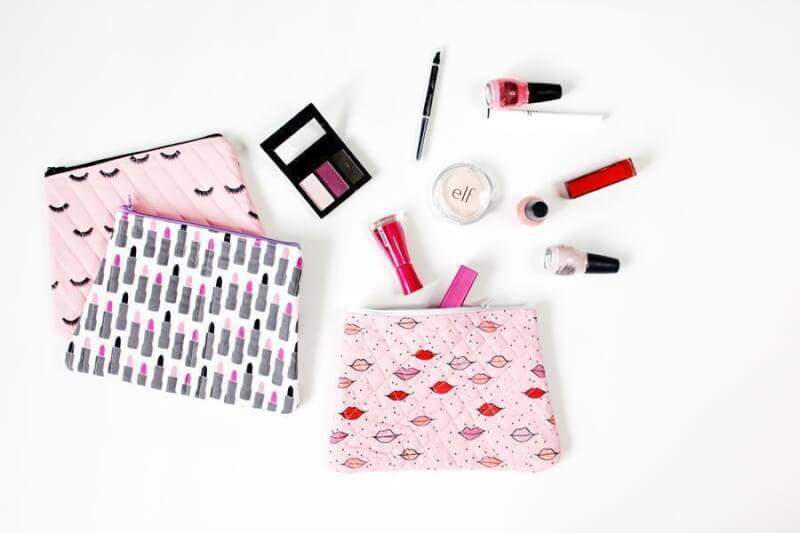 16. DIY Quilted Makeup Bag