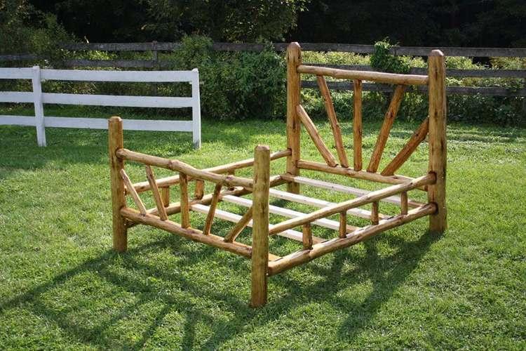 16. DIY Rustic Bed Frame - Queen Size