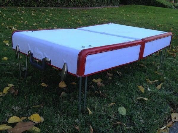 16. DIY Suitcase Picnic Table