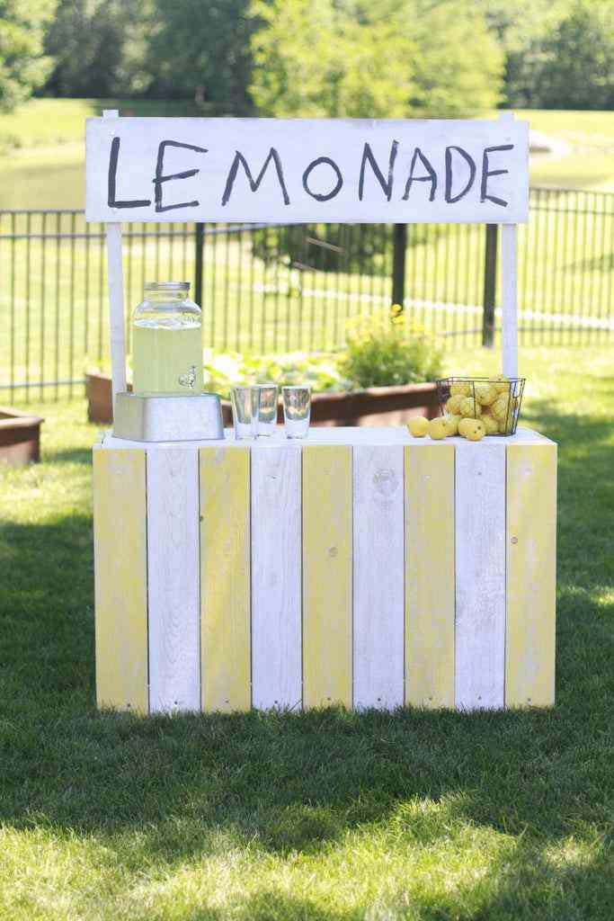 16. DIY Vintage Country Chic Lemonade Stand