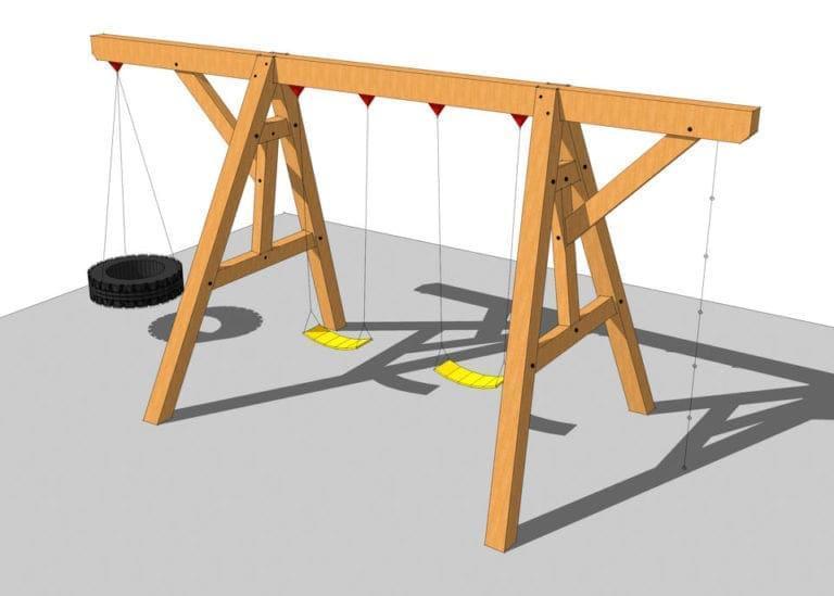 16. Timber Frame Swing Set Plan