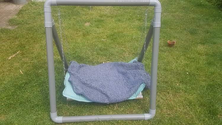 17. DIY Dog Swing Frame