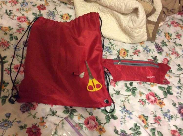 17. DIY Drawstring Bag With Pencil Bag