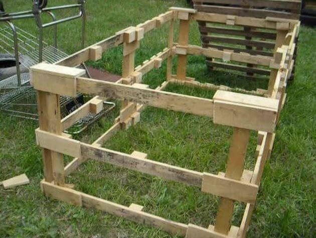 17. DIY Pallet Chicken Tractor