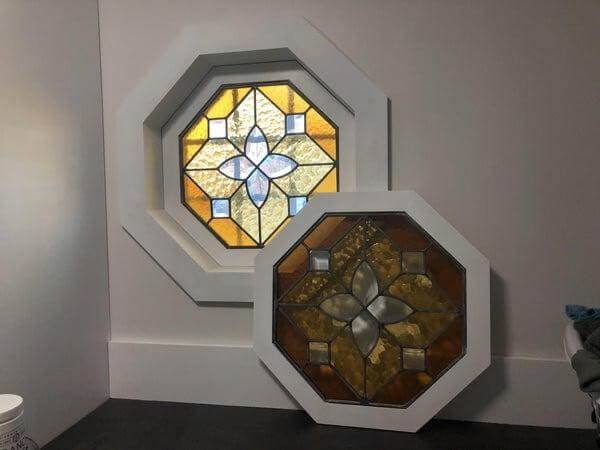 17. DIY Stained Glass Window Inserts
