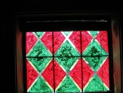 18. DIY Faux Stained Glass Window