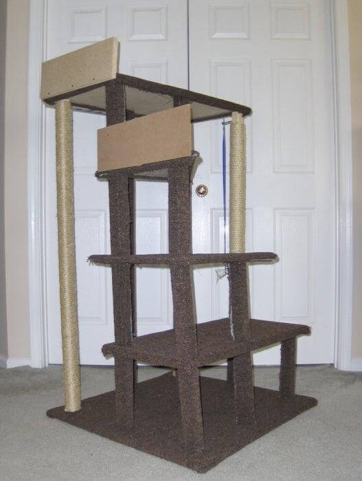 18. DIY Multi-Level Cat Tree