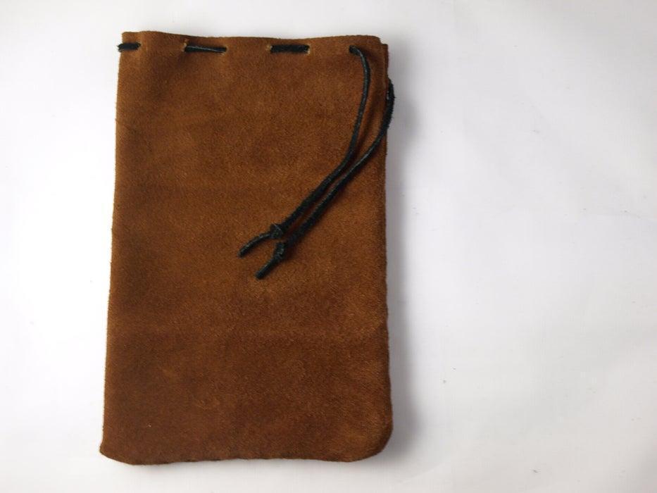 18. DIY Suede Drawstring Bag