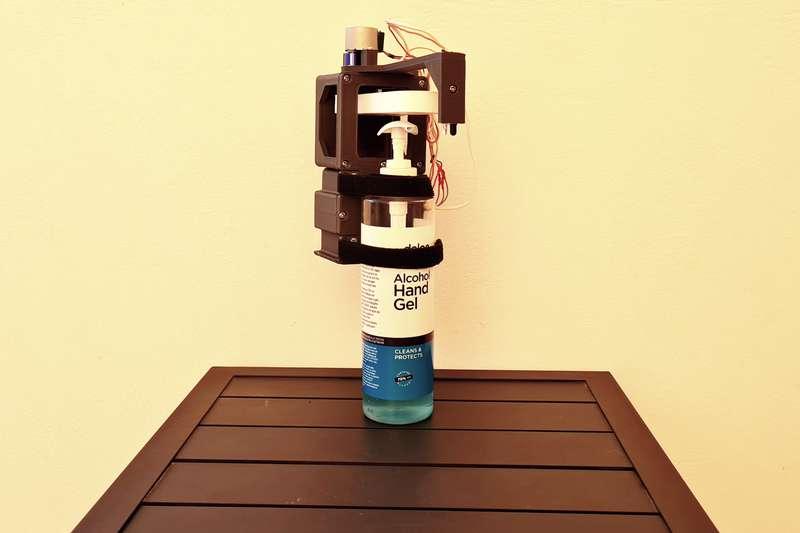 19. DIY Automatic Hand Sanitizer Dispenser