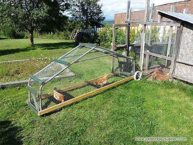 19. DIY Mobile Chicken Tractor