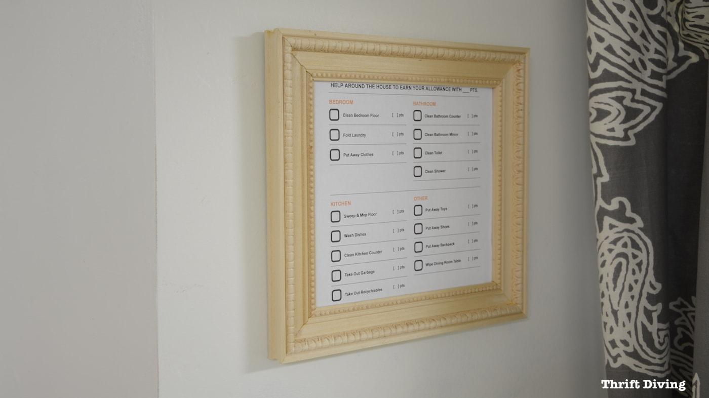 2. DIY Picture Frame Without Power Tools