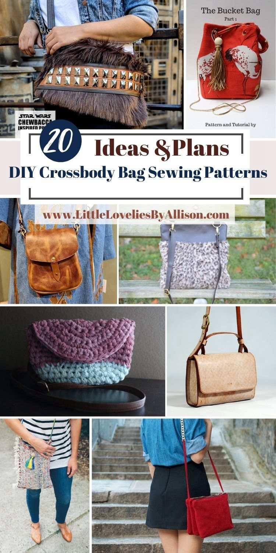 20 DIY Crossbody Bag Sewing Patterns That Look Amazing