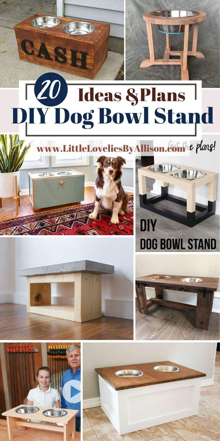 20 DIY Dog Bowl Stand Ideas_ How To Build A Dog Dish Stand