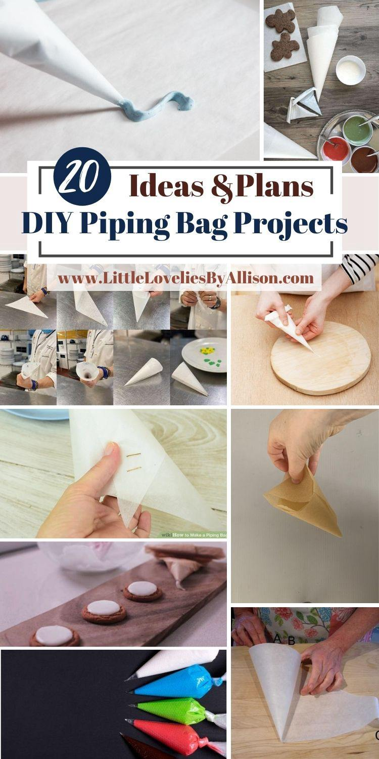 20 DIY Piping Bag Projects_ How To Make A Pastry Bag