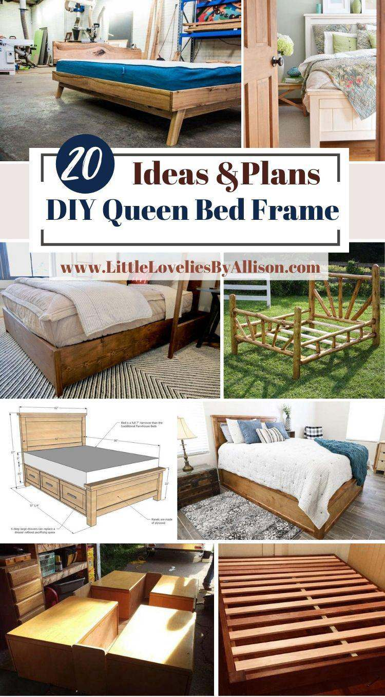 20 DIY Queen Bed Frame Ideas_ Do It Yourself Easily