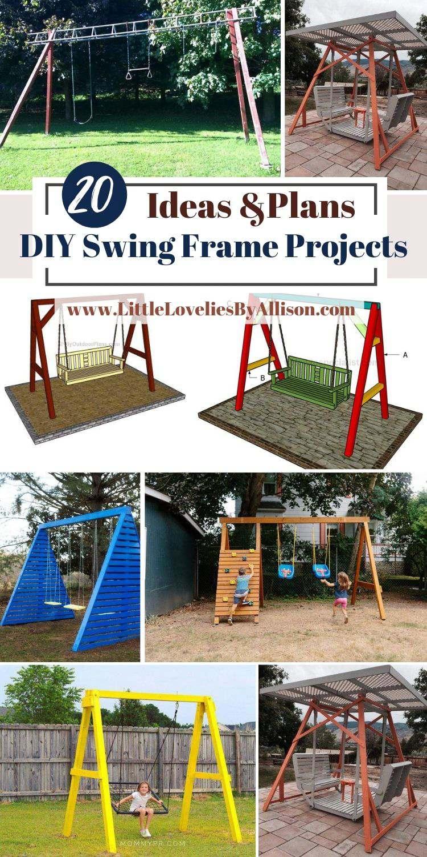 20 DIY Swing Frame Projects_ Best A-Frame Swings
